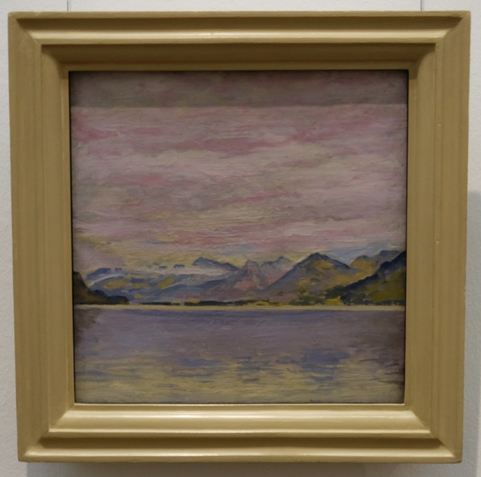 Wolfgangsee with deep horizon by Koloman Moser
