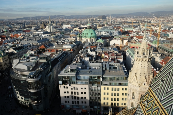 From atop St Stephens Cathedral