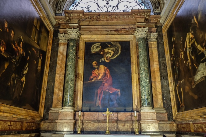 Religious artwork inside a church in Rome