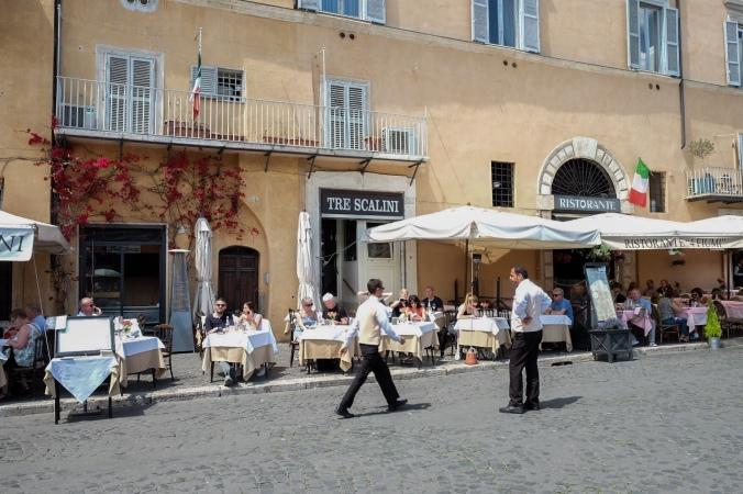 Tre Scalini restaurant in Rome
