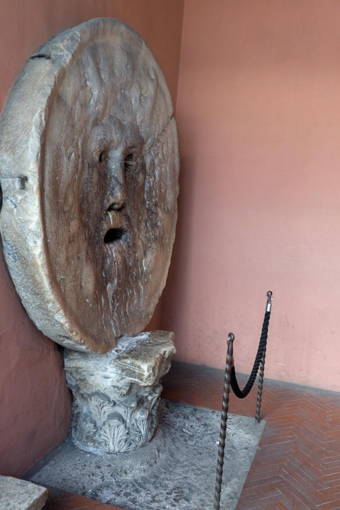 The historic stone carving the Bocca Della Verita