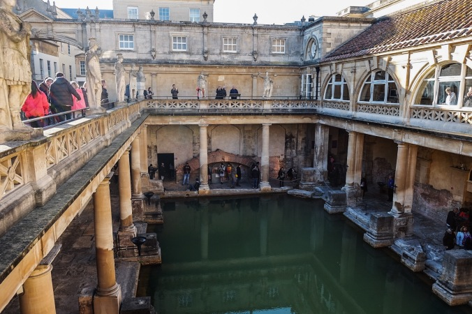 The historic Roman Baths