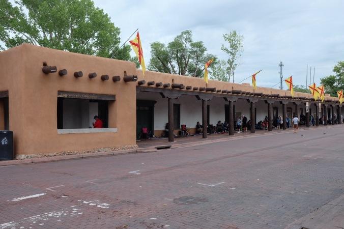 Santa Fe Plaza with Indian market