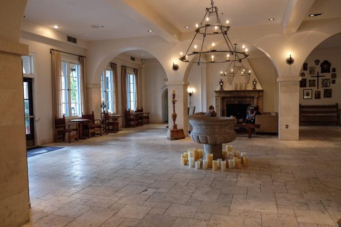 The lobby of the Hotel St Francis in Santa Fe