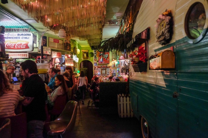 A view of the trailer park lounge inside the bar