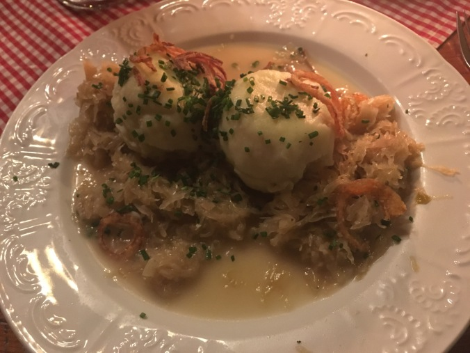 Dumplings and sauerkraut